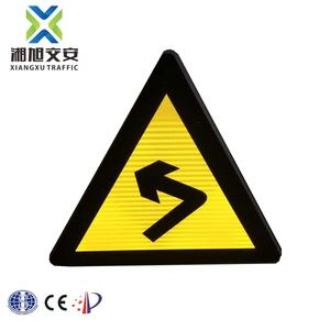Triangle sign weight solar traffic sign with CE