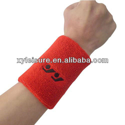 Black/White/Blue/Red cotton sports basketball wristband / sweatband wrist sweat band/brace
