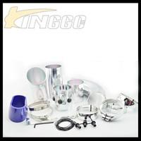 Universal Silver Car Air Filter Intake Pipe, Adjustable Aluminum Cold Air Intake Pipe