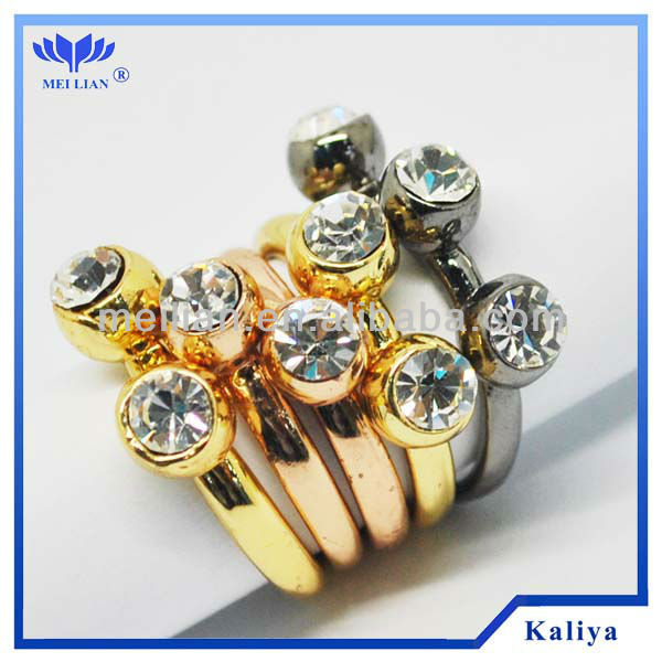 Gold Plating Rings Crystal Gold Ring For Retailer Wholesale