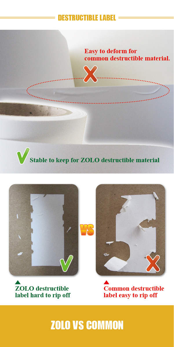 Fragile Paper Printing Warning Labels Easy Peel Off Fragile - Custom vinyl stickers easy peel off