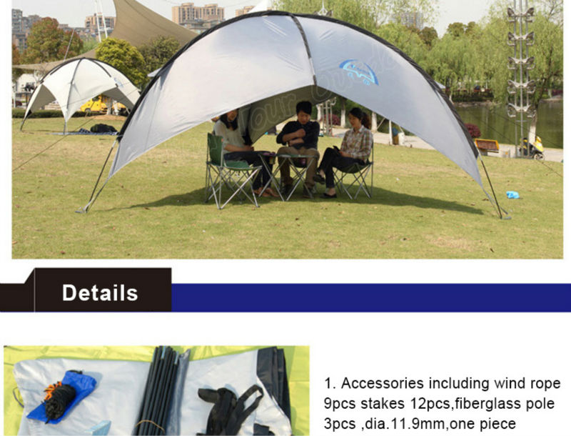 C&ing Canopy Tent Tripod Beach Shelter Triangular Windproof  sc 1 st  Hangzhou Huiyun Trade Co. Ltd. - Alibaba & Camping Canopy Tent Tripod Beach Shelter Triangular Windproof ...