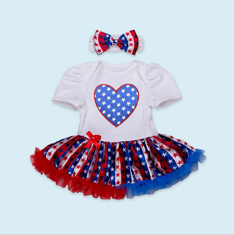 Baby girls 4th of july tutu skirts