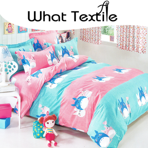 Factory direct sale What Textile 100% polyester cartoon animal print bed sheets