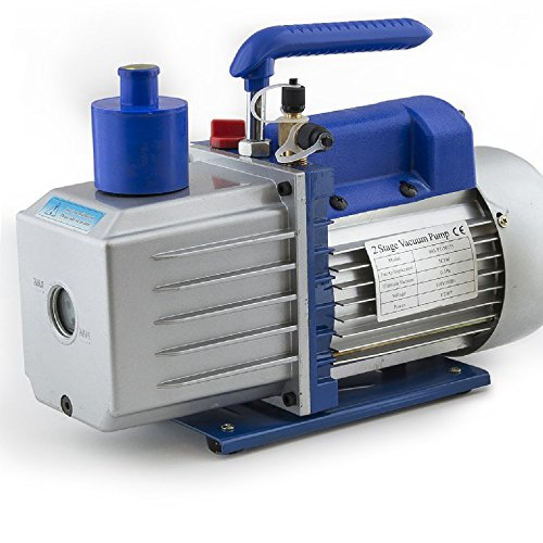 "ARKSEN 2-Stage Deep Vacuum Pump 1/2HP, 5CFM Refrigerant 1/4"" & 3/8"", R410a R134 HVAC, w/ Oil Bottle"