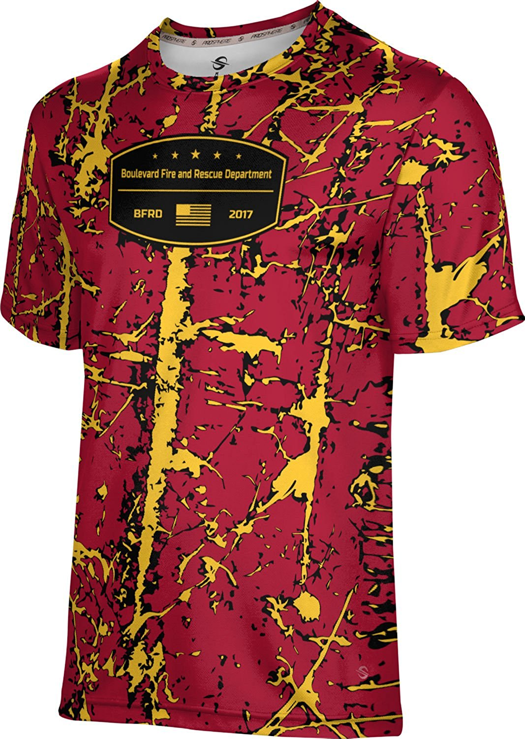 ProSphere Boys' Boulevard Fire and Rescue Department Fire Department Distressed Shirt