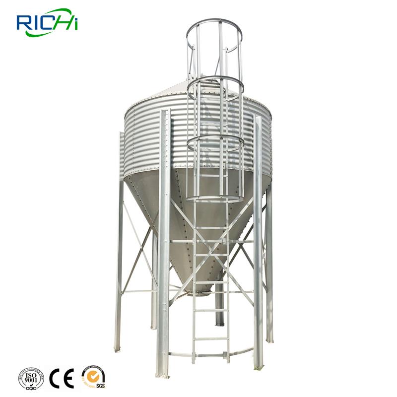 16T Complete Chicken Farming Production Line Farm Silos For Sale
