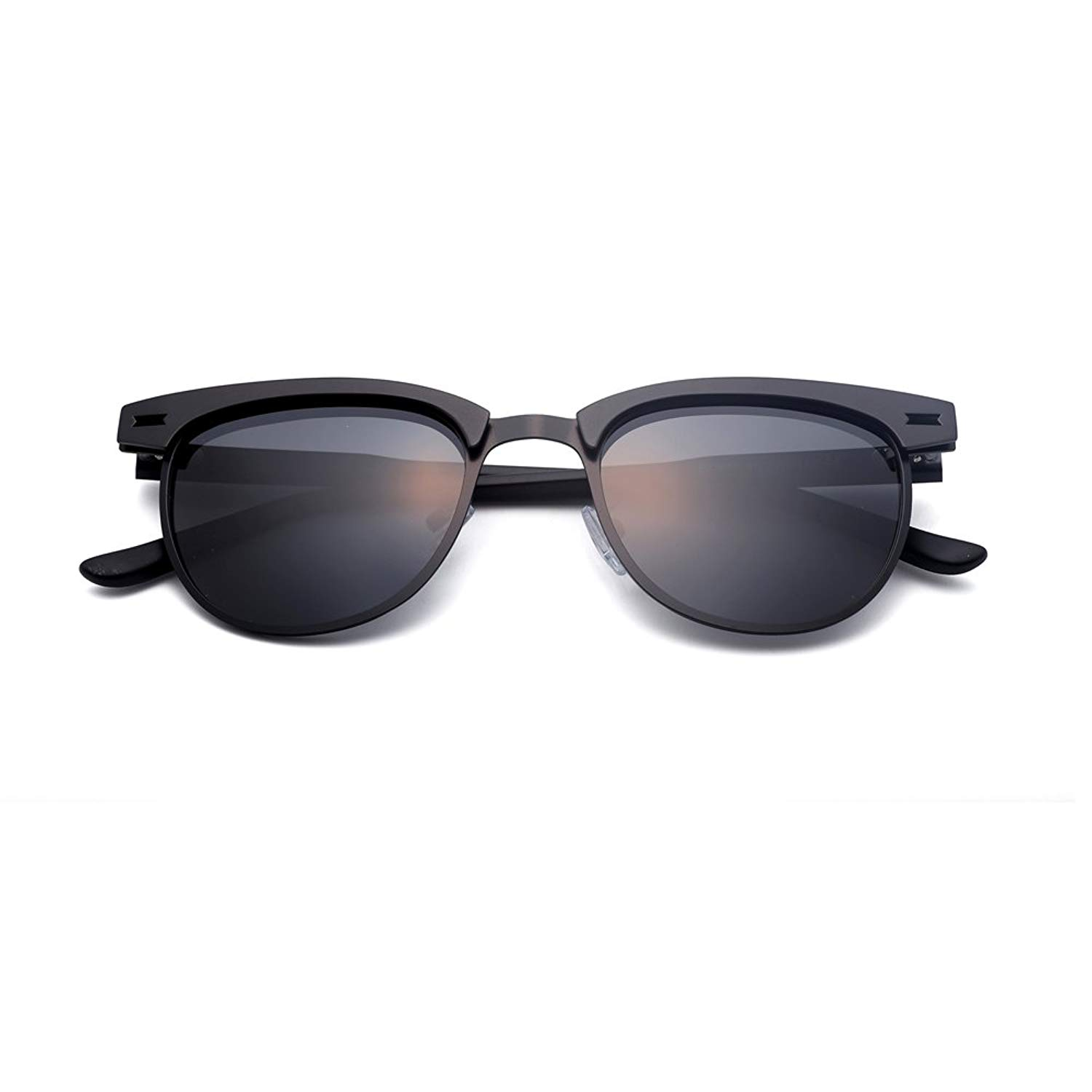 a5f085398 Get Quotations · C&CHAI Polarized Unisex Retro Classic Trendy Stylish  SUNGLASSES with Case , UV 400