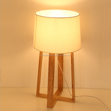 home decorative square individual solid wooden table lamp