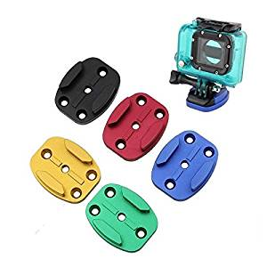 CNC Aluminum Flat Quick Release Buckle Mount Base For GoPro 1 2 3 3 Plus Xiaomi Yi SJ4000 Color Random