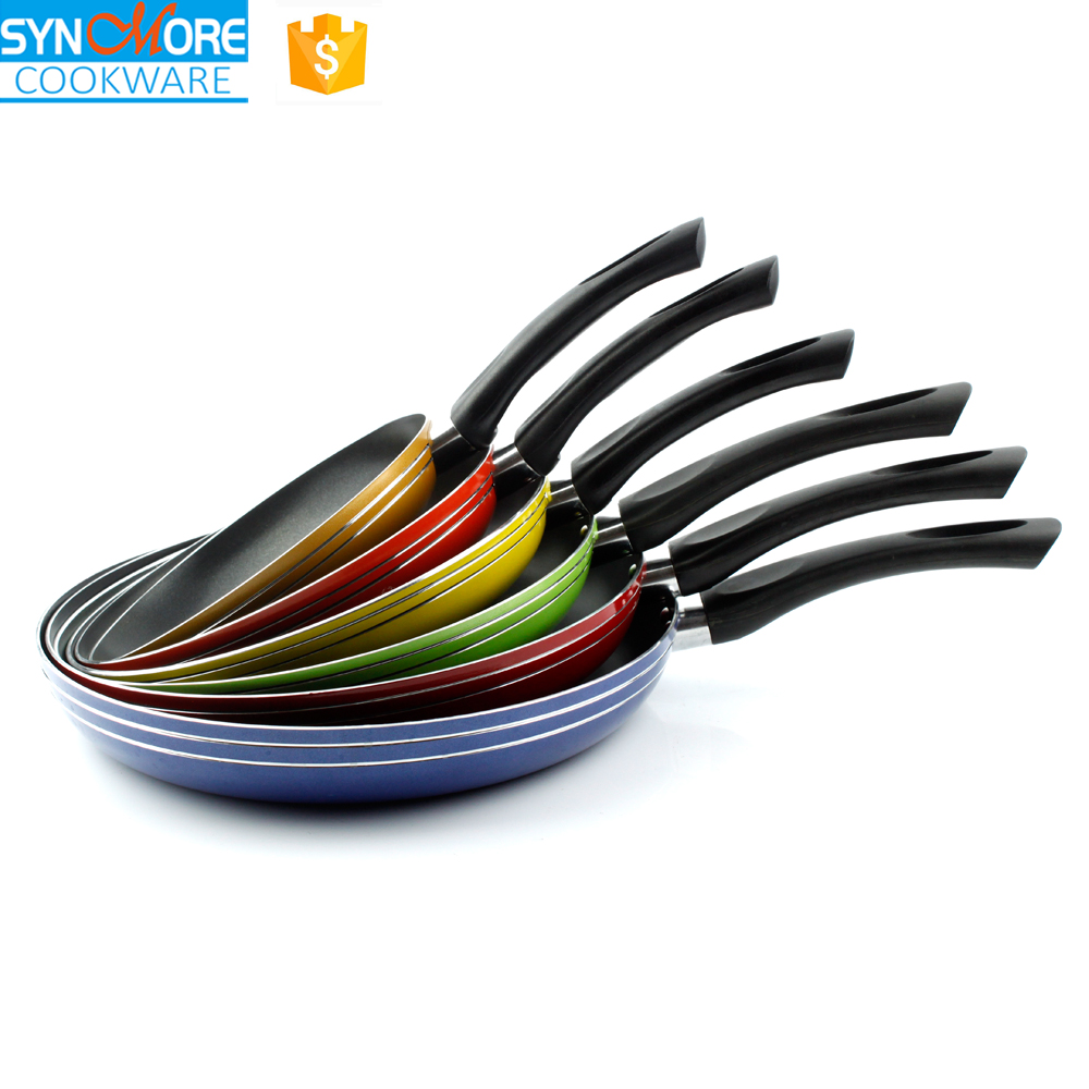 Ceramic Coating Colored Frying Pans