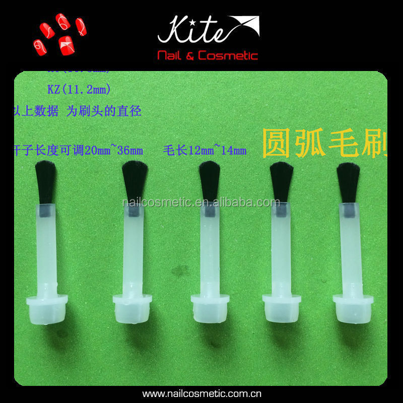 Flat Shape Nail Polish Brush With Arc -shape Brush Head