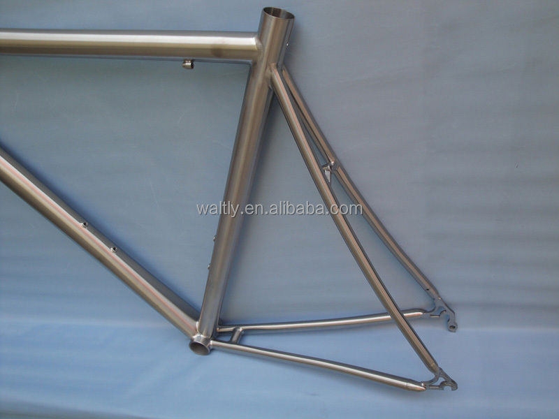 2015 time trial titanium road frame for track bike