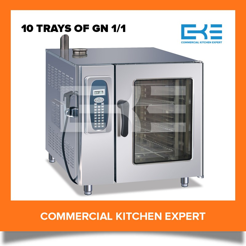 2016 Professional Steaming Baking Oven 10 Trays Memory Program Electric Combi Steamer