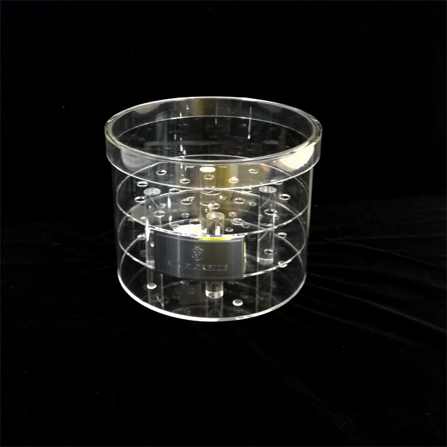 High quality valentines  round transparent acrylic flower gift box