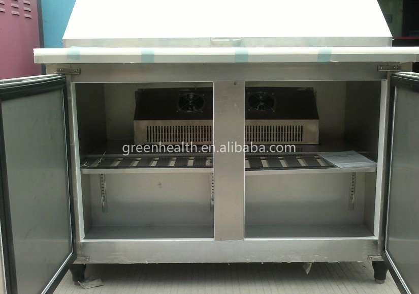Green&health Pizza Counter Display Salad Bar Display Refrigerator ...