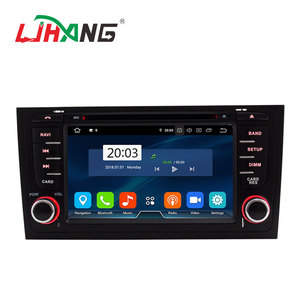 LJHANG Android 9.0 4+32G Octa core 2 din car gps dvd player for Audi A6 S6 RS6