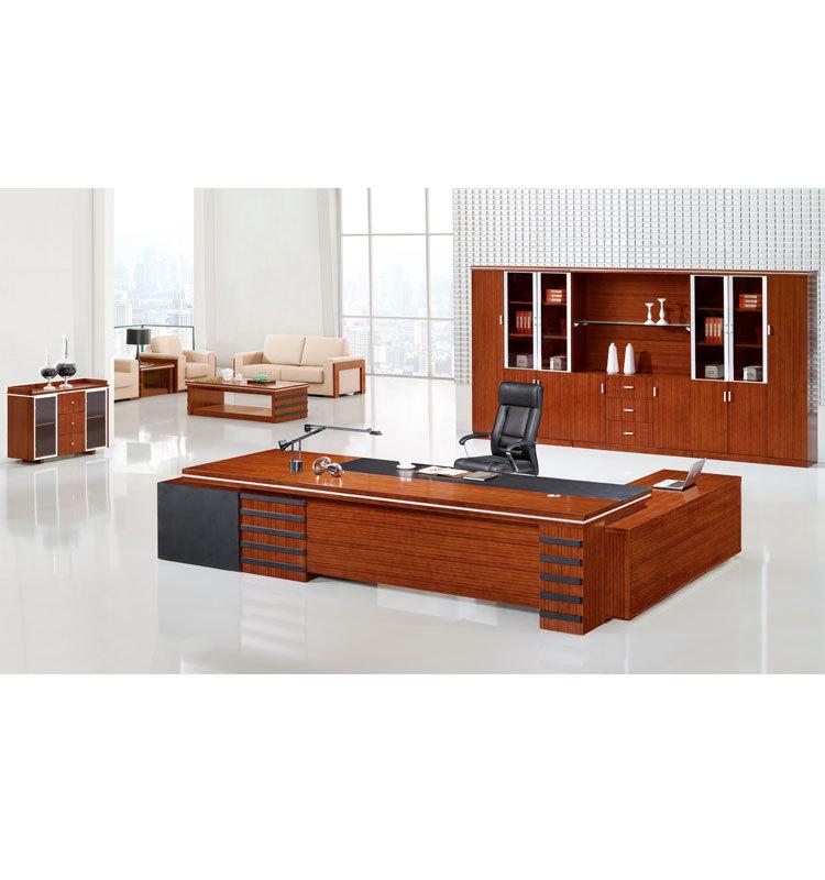 l shaped large executive desk set solid wood office desk