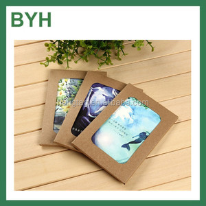 2016 custom foldable open window postcard packaging boxes