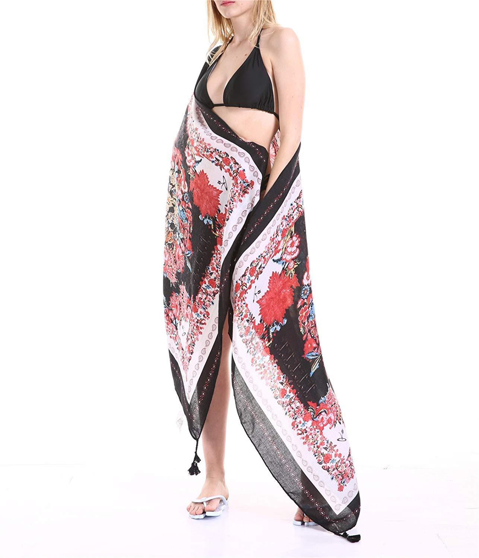 52bdb01f44 Get Quotations · Sarongs For The Beach Women Sarong Wrap Bikini Swimsuits  Sarong Wrap Coverup