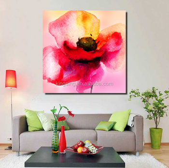 Handmade Modern Yellow Flower Canvas Oil Painting Acrylic Abstract Paintings Flowers Buy Abstract Acrylic Flower Painting Decoration Wall Art