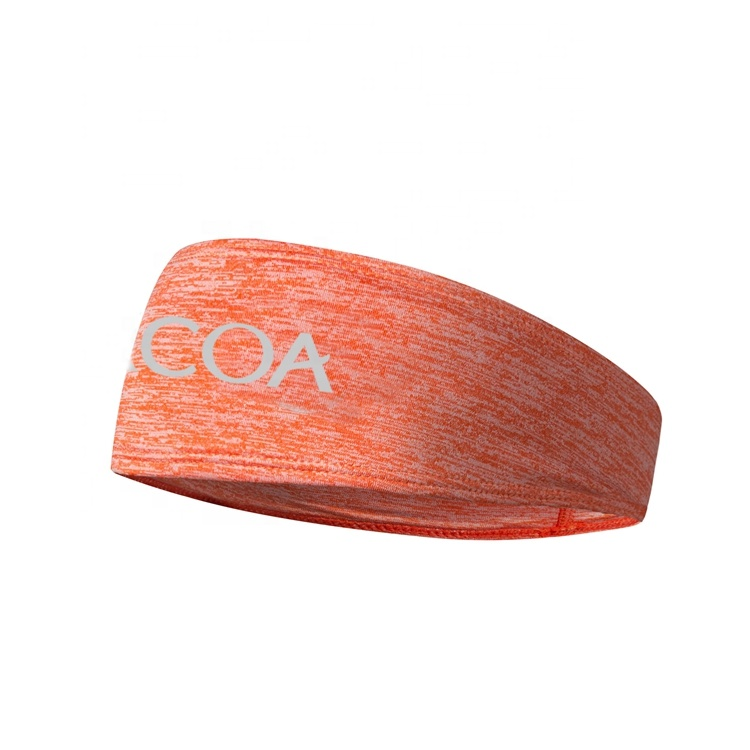 Outdoor sports in stock bandana polyester custom logo quick-dry yoga <strong>headband</strong>