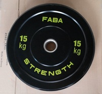 Fitness gym equipment power training rubber bumper weight plate