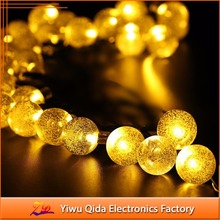 wholesale LED the solar energy bubble ball string light 6M waterproof outdoor string light