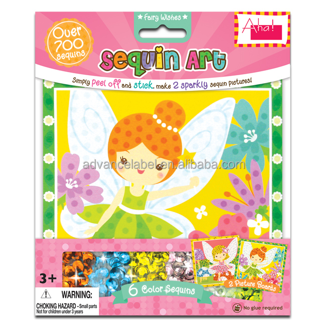 Puzzle Sequin Art Learning Educational Toys Games DIY OEM ODM Fairy theme