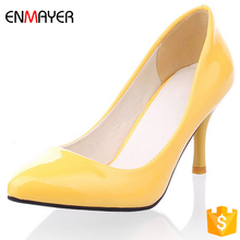 2017 china factory wholesale cheap jelly colorful pu high heel women shoes