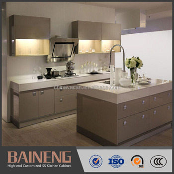 Durable Kitchen Cabinet Stainless Steel Units For Modern Designs