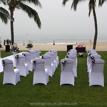 Latest design wholesale banquet chair cover wedding decoration spandex for plastic chairs & Latest Design Wholesale Banquet Chair Cover Wedding Decoration ...