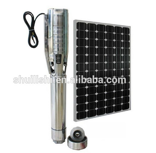 POLY Photovoltaic Modules 250W DC Solar Water Pumps 6inch Submersible Pump for agriculture