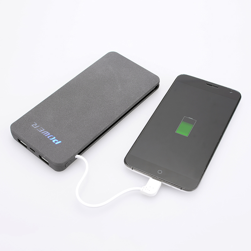 Rohs power bank charger with built-in cable from shenzhen mobile power supply