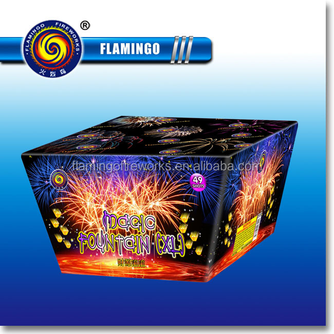"DC1249B 1"" 49S Magic Fountain Wholesale Consumer Cake Fireworks"