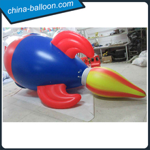 Air-tight PVC rocket helium balloon/ Flying inflatable rocket for parade