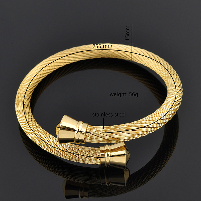 China Wholesale Websites Stainless Steel New Design Gold Bangles In Abudhabi
