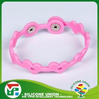 High class custom color adjustable silicone vibrating wristband bracelet