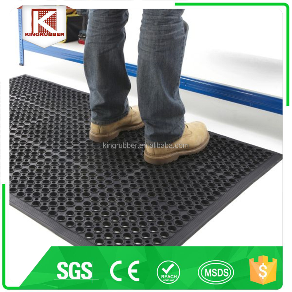 Anti shock for outdoor rubber pad rubber rug