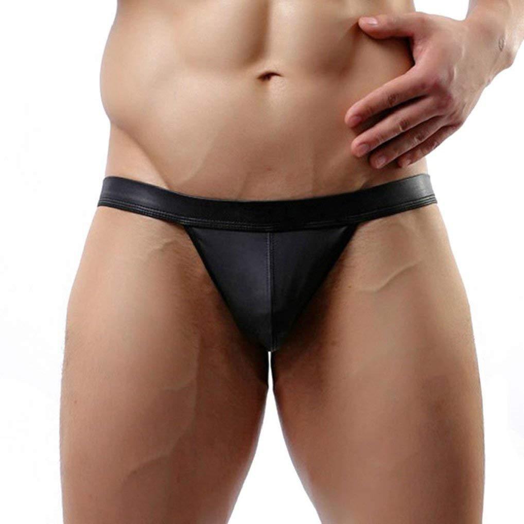 Appoi Men Briefs Underwear Sexy,Hot Sexy Men's Thongs G-String Underwear Leather Jockstrap Trunks Mens Underpants