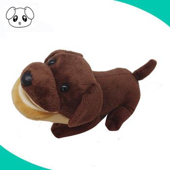 Customized Brown Funny Voice Recording Stuffed Plush Animal Dog Toys