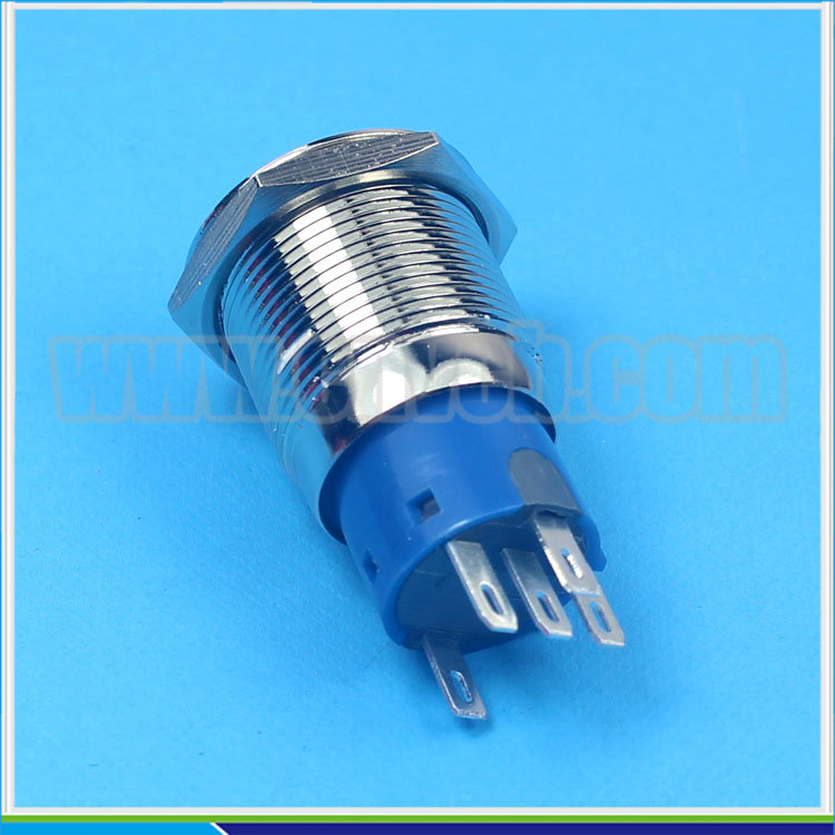 1952 19mm Flat round head momentary or latching ring led arrow engraving switch