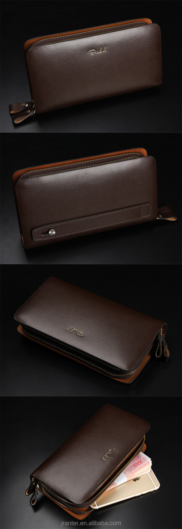 Trendy men's clutch wallet,genuine leather purse wholesale