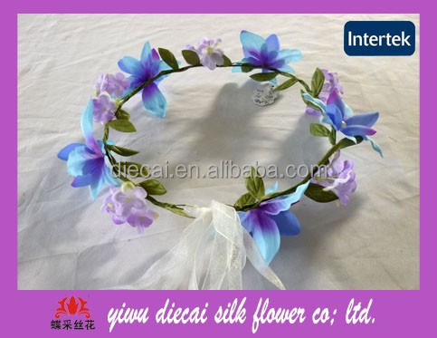 Wholesale wedding artificail flower headband crown
