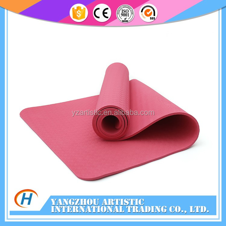 Good supplier yoga mats pvc , logo customized , with hole to hand up
