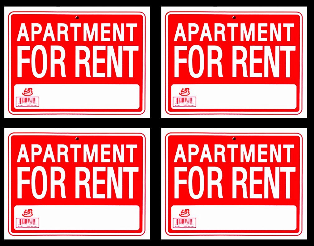 Get Quotations · 4 Signs APARTMENT FOR RENT Sign Flexible Heavy Thick  Plastic (9 Inch X 12 Inch