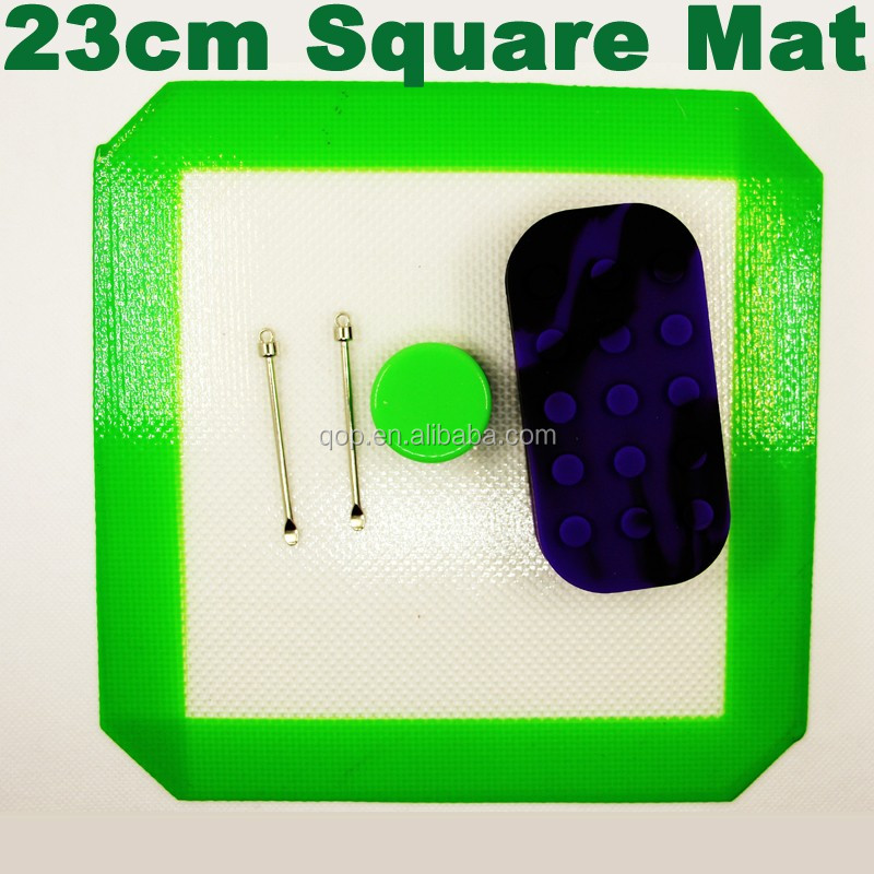 Clear non-stick silicone mats wax oil silicone mat custom size & logo silicone dab pad for ecig mods glass dab rigs