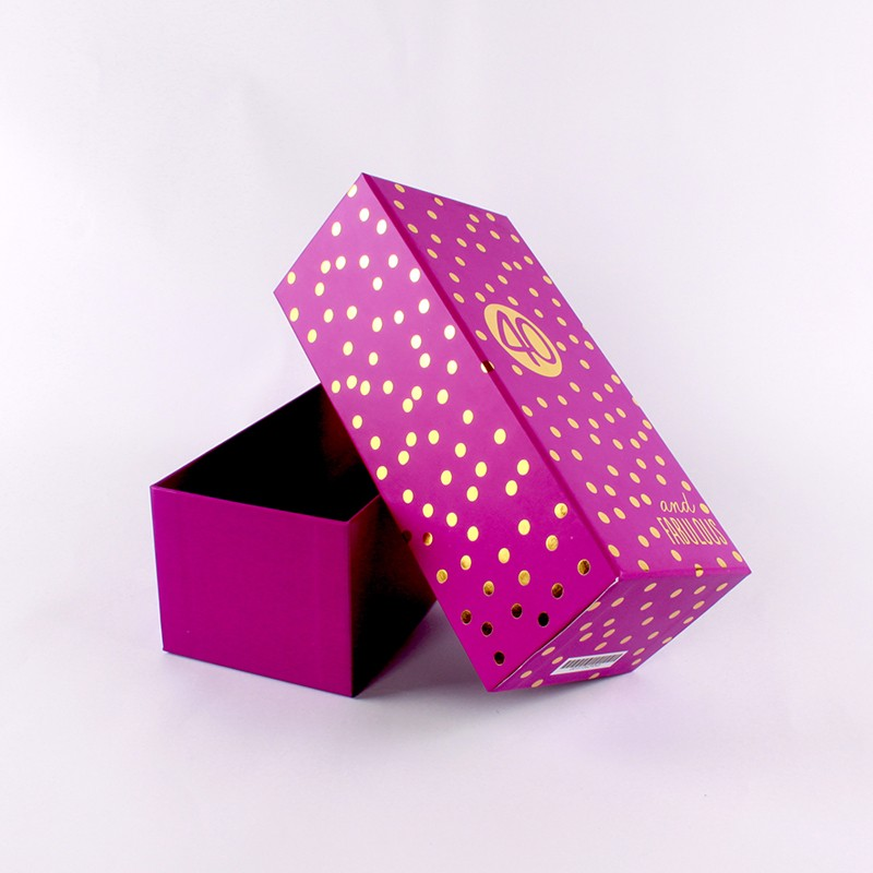 Promotional custom gift packaging box hot foil paper boxes