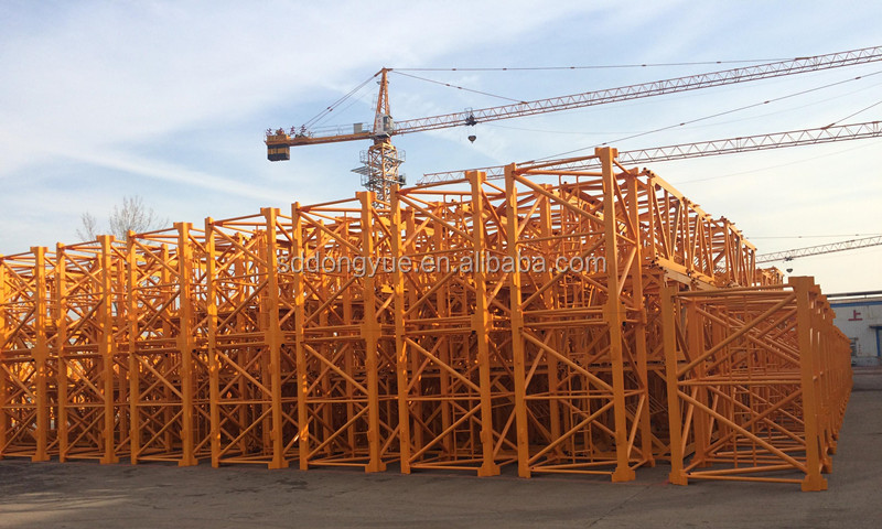 2016 hot sale 6t chinese shandong tower crane in india