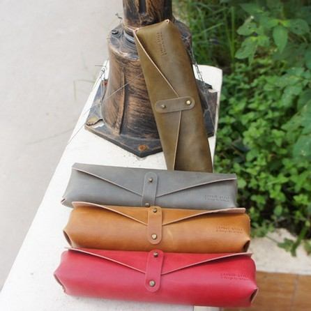 Custom color  leather pencil cases
